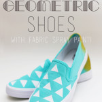 DIY Geometric Painted Shoes Tutorial