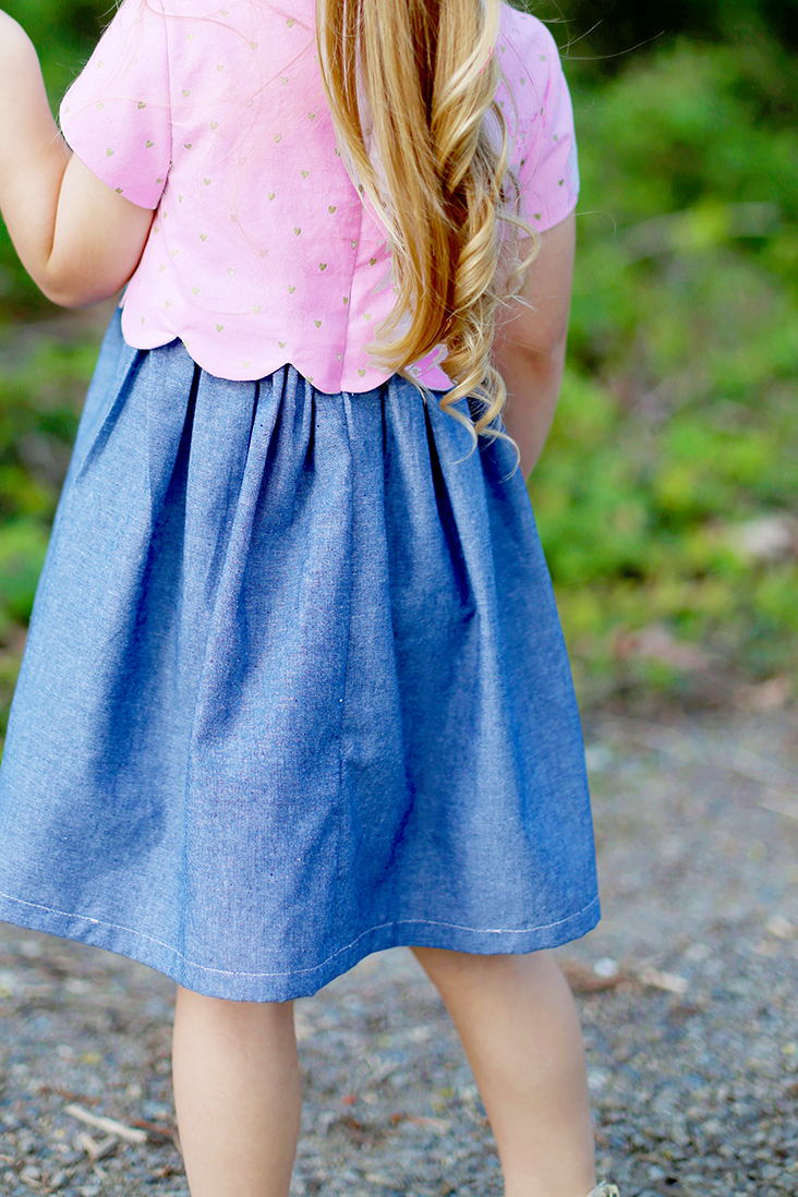Scalloped bodice dress pattern