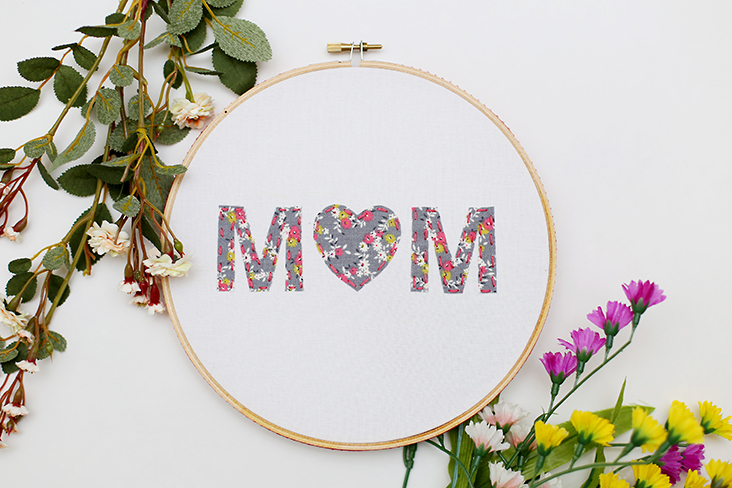 Mother's Day Hoop Art Tutorial