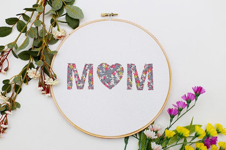 Mother's Day Hoop Art Tutorial