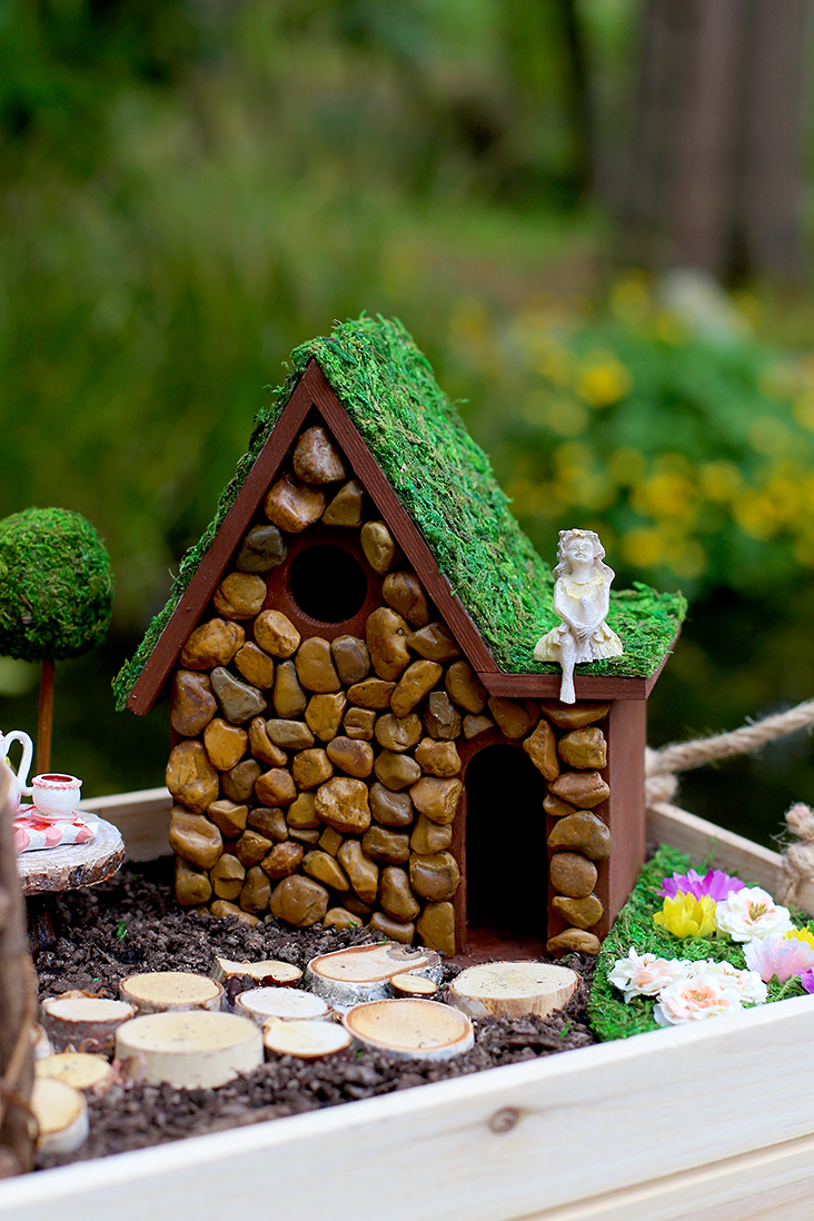 Diy fairy garden and fairy house tutorial sew much ado for Create your own building