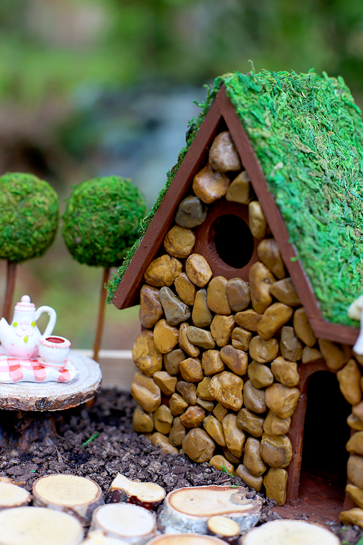 DIY Fairy Garden and Fairy House Tutorial - Sew Much Ado