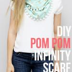 DIY Pom Pom Infinity Scarf Tutorial