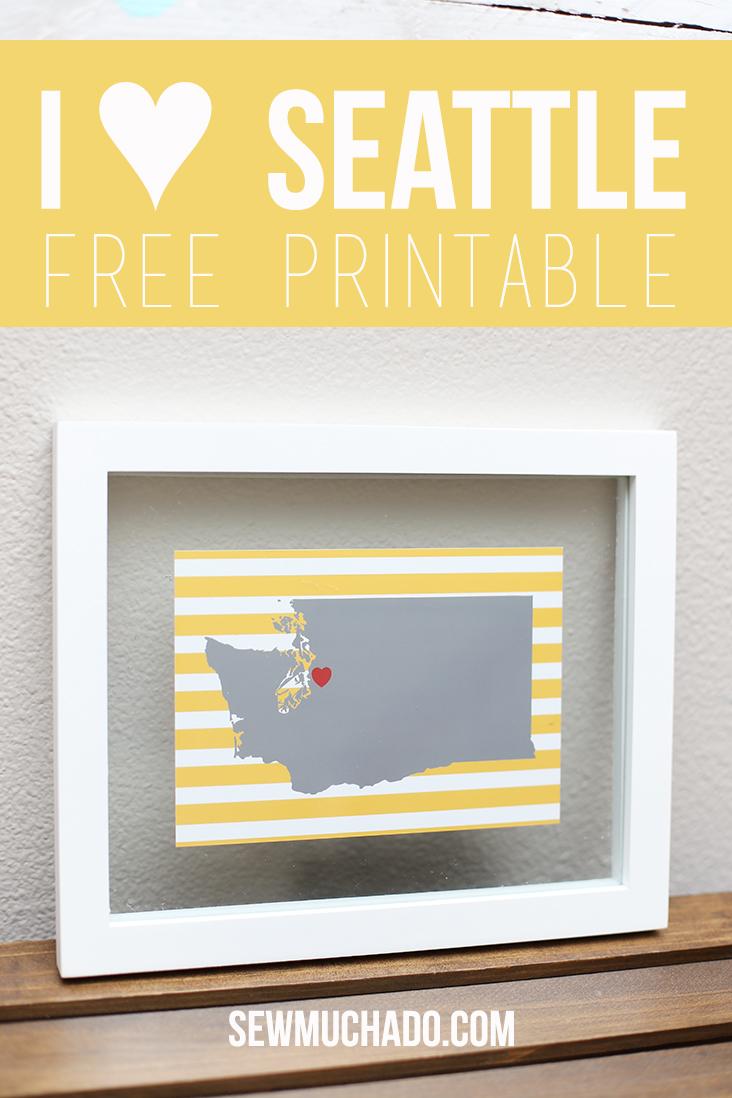 I Heart Seattle Free Printable