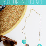 DIY Fabric Covered Button Necklace Tutorial