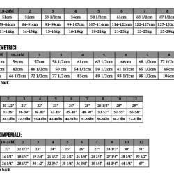Sullivan Dress PDF Pattern Size Chart