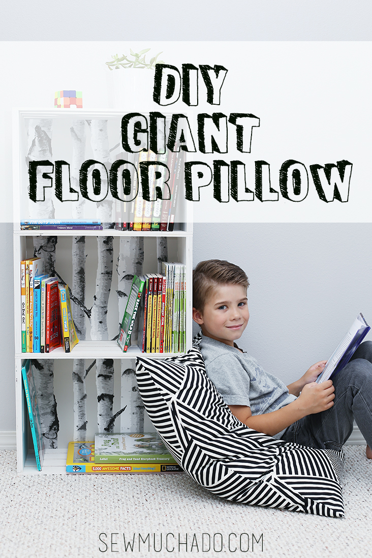 Giant floor pillow tutorial sew much ado floor pillow tutorial tyukafo