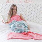 Adult Mermaid Tail Blanket Free Pattern