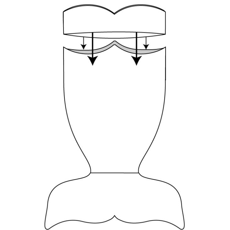 adult mermaid tail free pattern