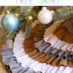 DIY No Sew Ruffled Tree Skirt