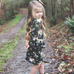 Girl's Peplum Dress Pattern