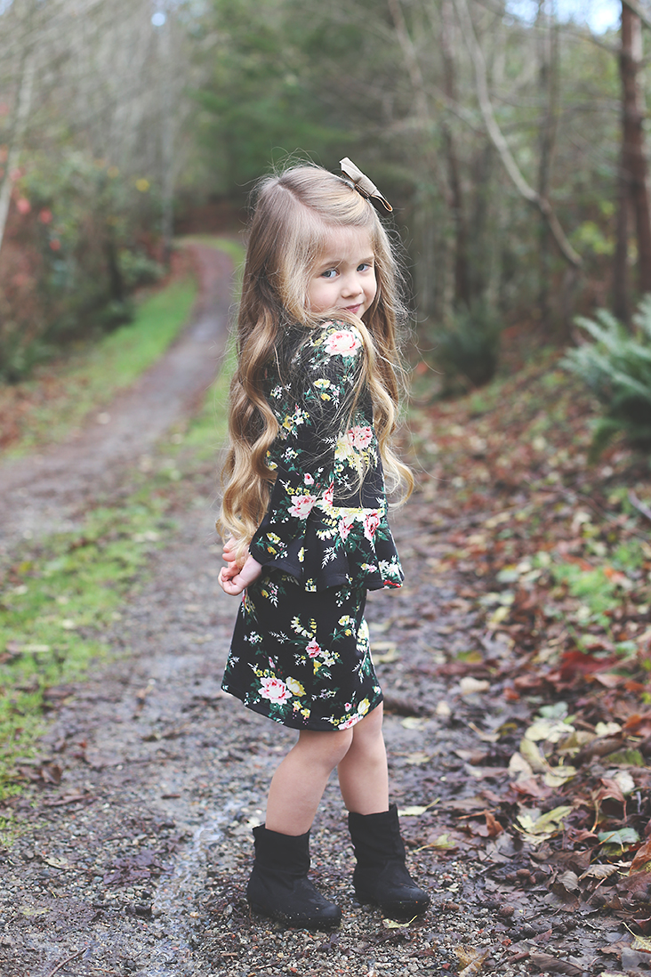 Girl's Peplum Dress Pattern