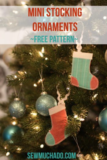 Mini Stocking Ornament Free Pattern