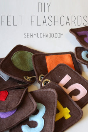 felt flashcards free pattern