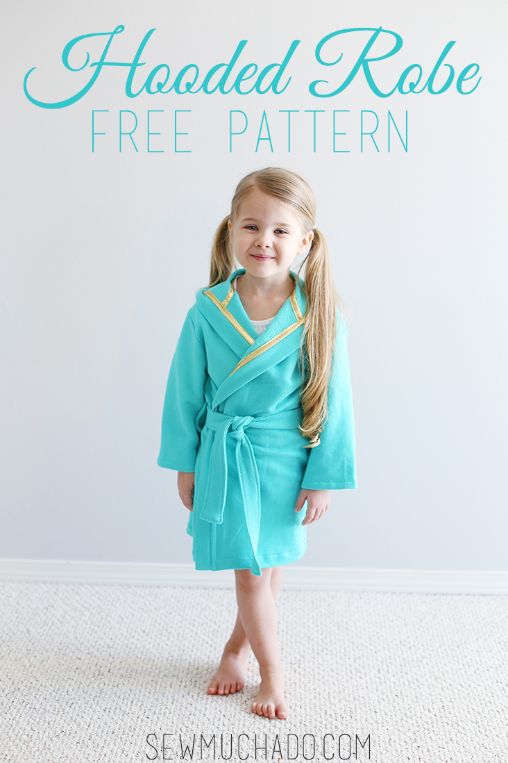 Hooded Robe Free Pattern Sew Much Ado