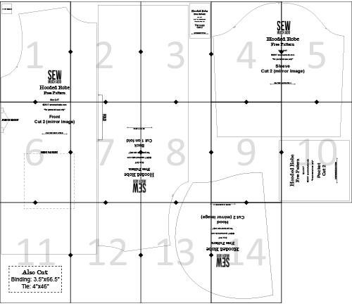 robe free pattern assembly diagram