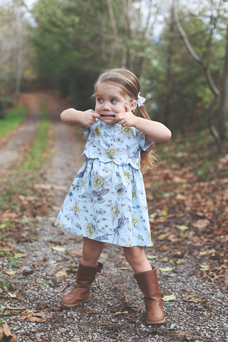 Girl's Scalloped Dress Pattern
