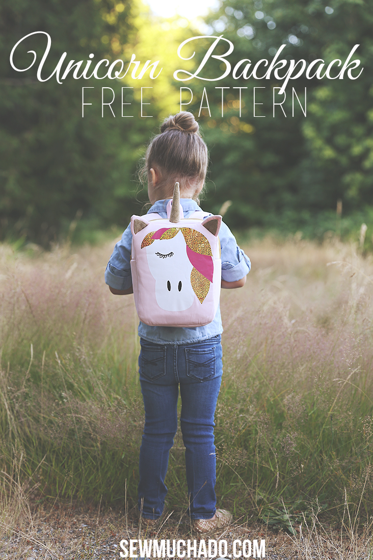 Unicorn Backpack Free Pattern With Cricut Explore Air 2 Sew Much Ado