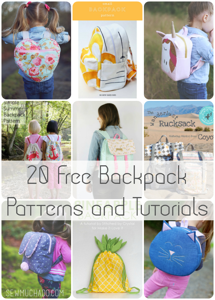 20 Free Backpack Patterns and Tutorials - Sew Much Ado