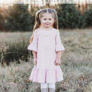Girl's Free Ruffle Dress Pattern