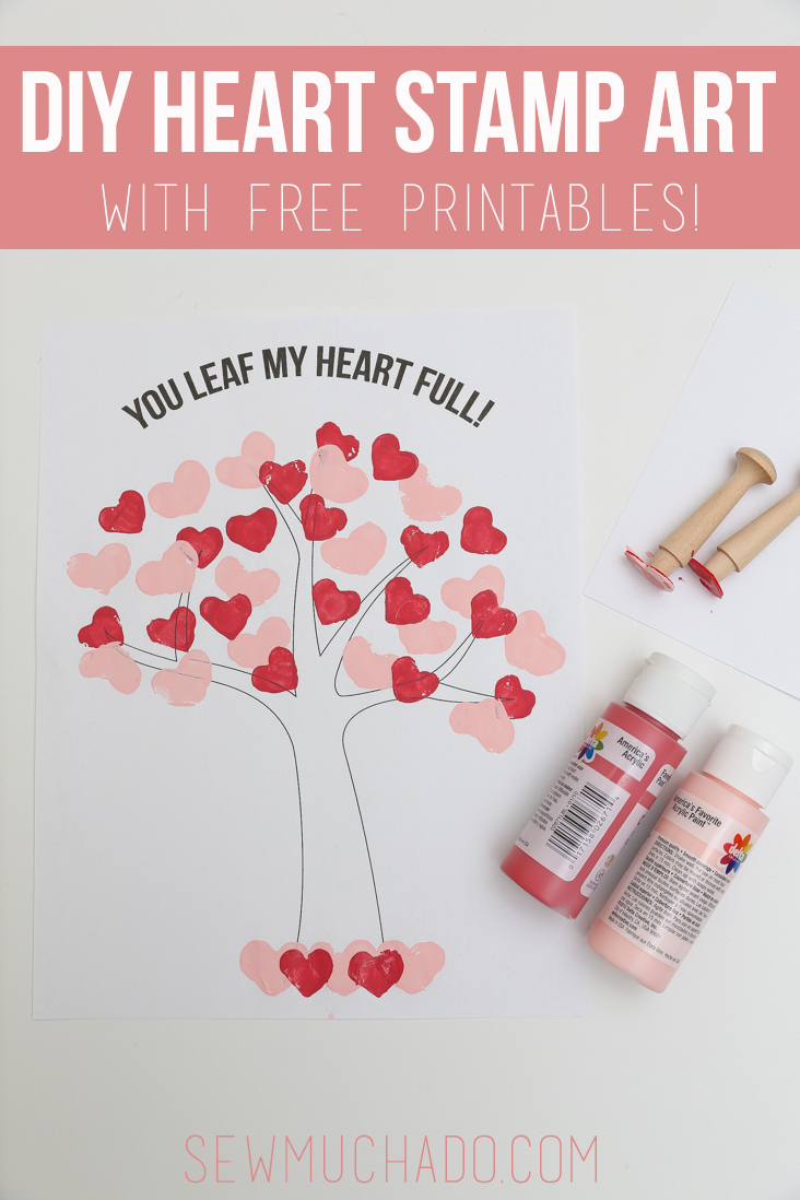DIY Heart Stamps and Tree Craft