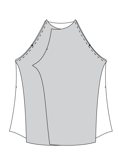 Free Cowl Neck Raglan Hoodie Pattern