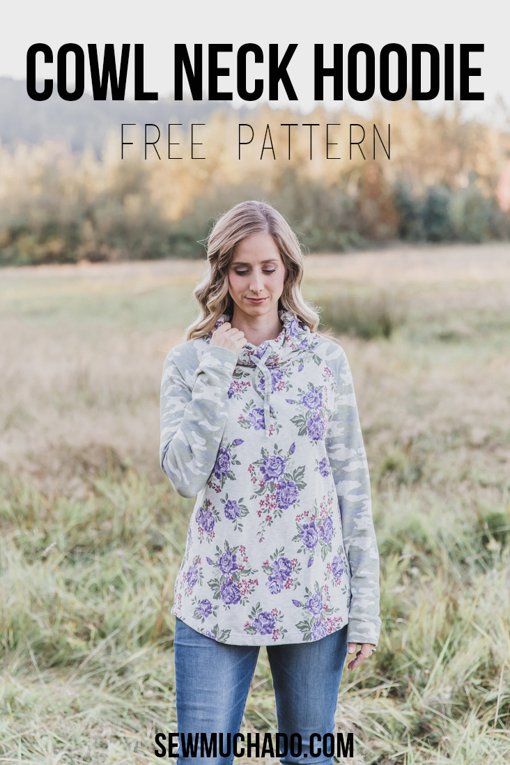 Free Women S Cowl Neck Hoodie Pattern Sew Much Ado