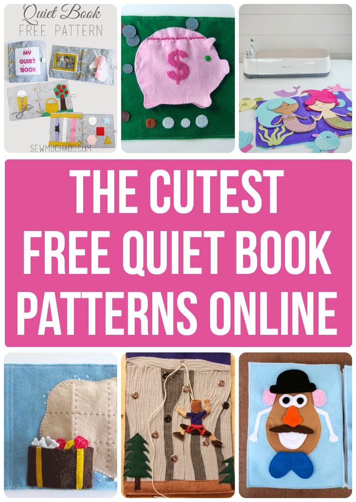 photo about Printable Quiet Book Templates known as 10 Lovable Absolutely free Calm E-book Behaviors and Templates - Sew