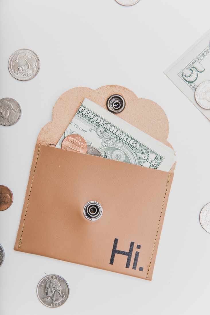 DIY Leather Coin Pouch
