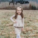 A Pretty in Peplum Christmas Dress