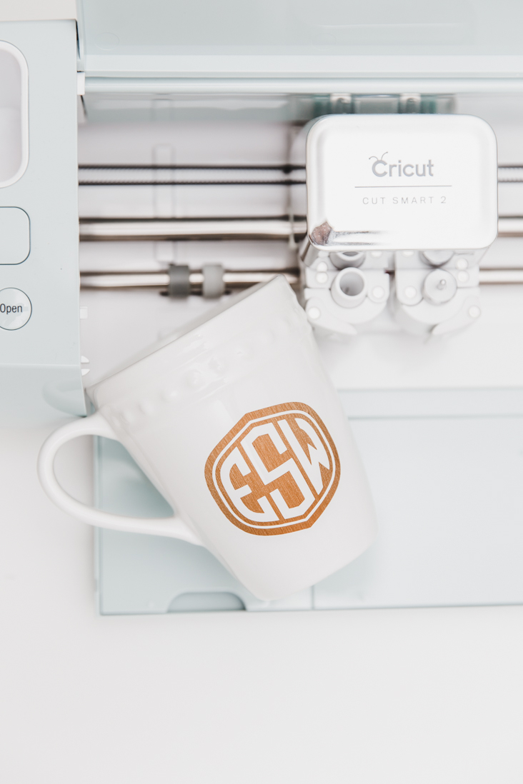 DIY Cricut Monogram Mug