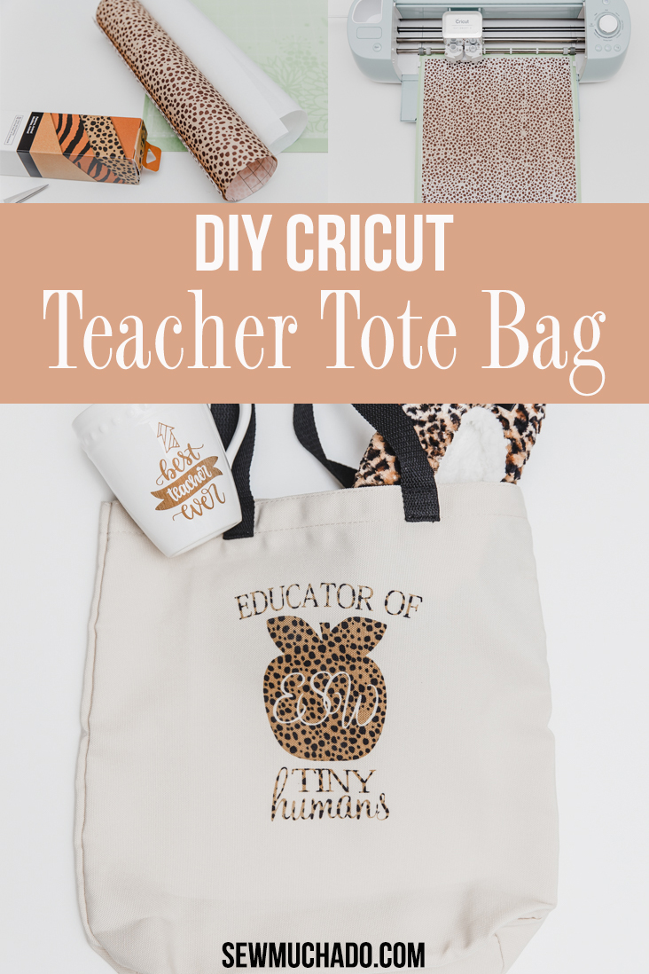 Cricut Monogram Tote Bag