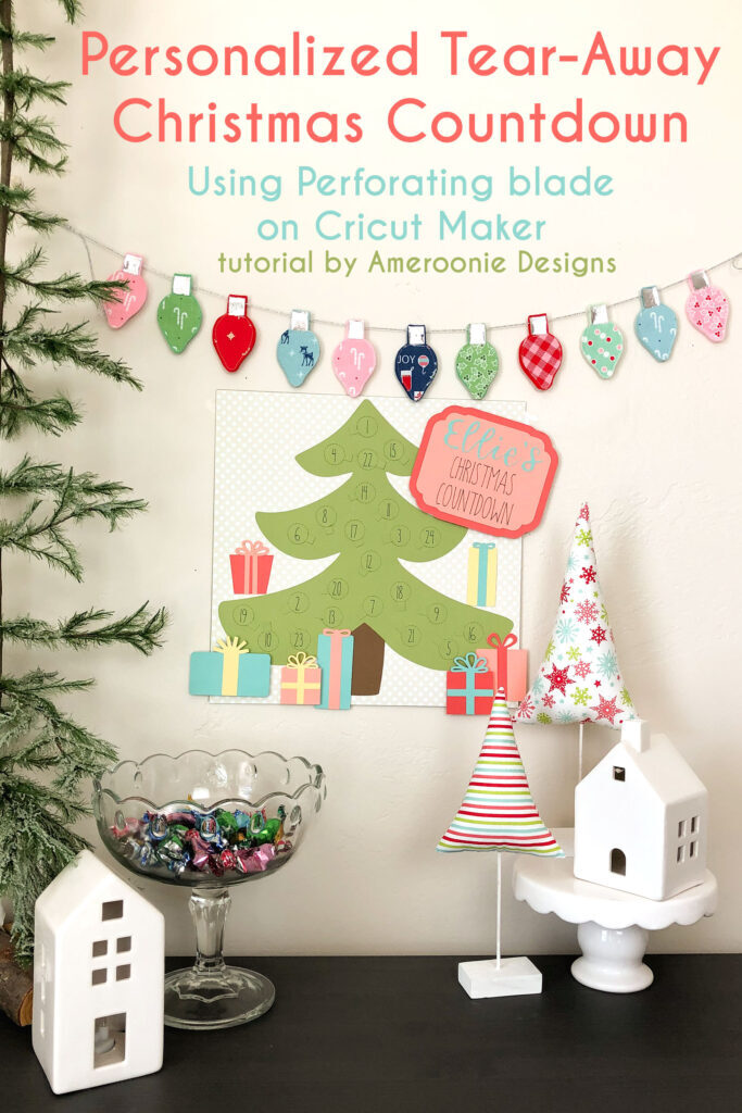 DIY Cricut Advent Calendar