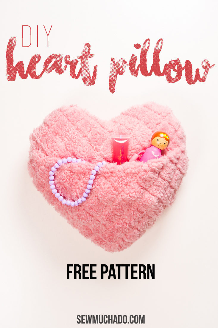 heart pocket pillow tutorial