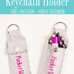chapstick keychain holder tutorial