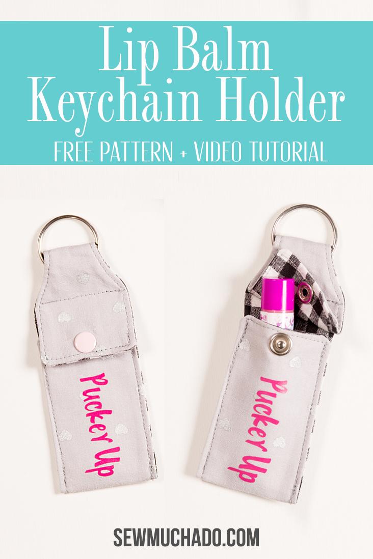 chapstick keychain holder tutorial