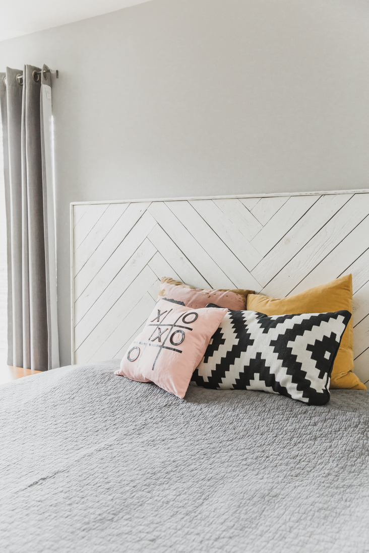 Herringbone Headboard DIY