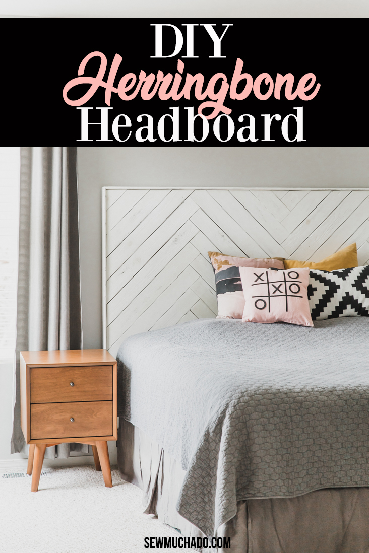 How to Make a Herringbone Headboard
