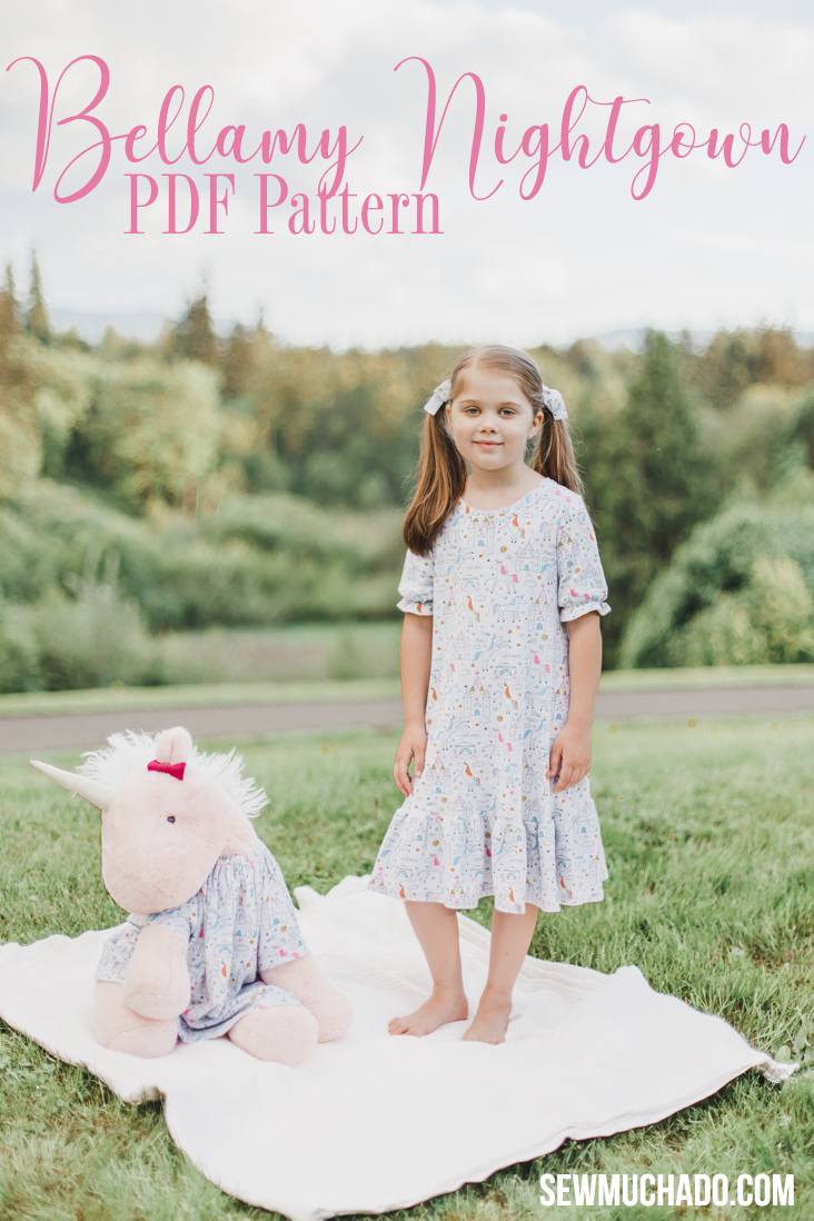Girl S Nightgown Pattern Unicorn Bellamy Edition Sew Much Ado