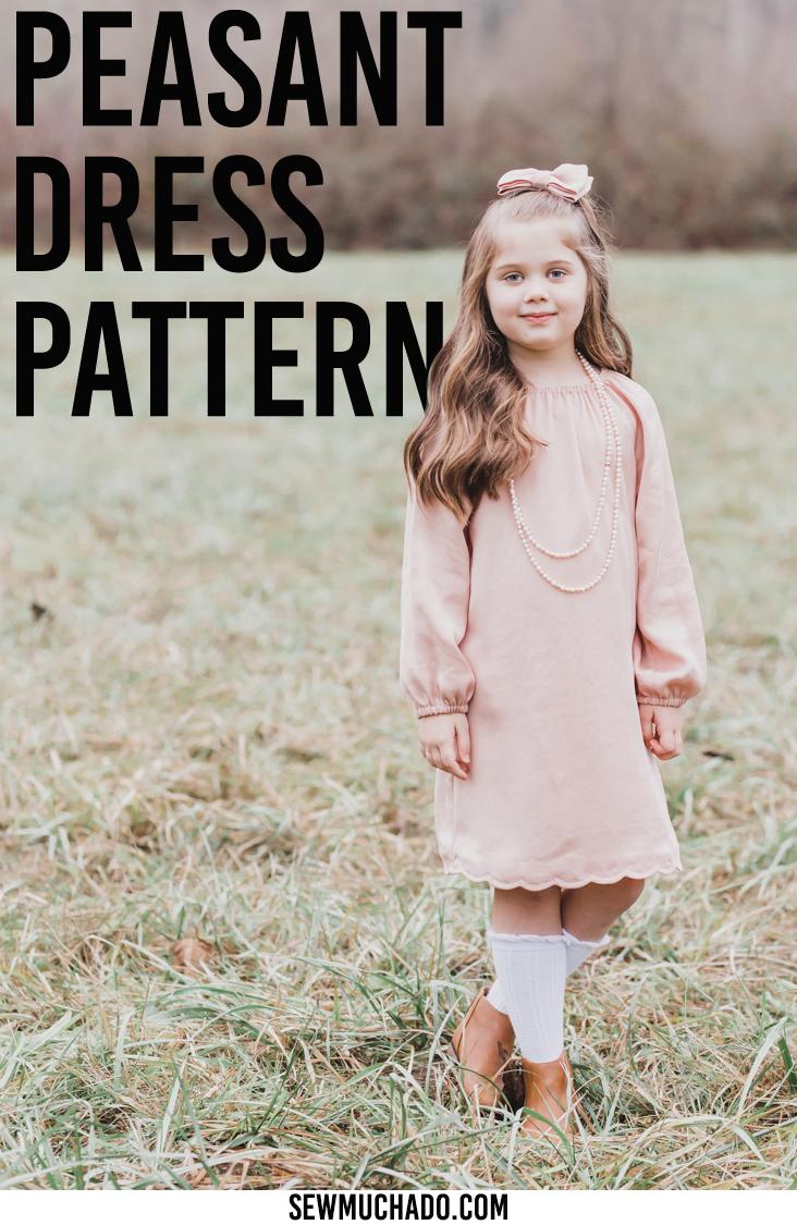 girls peasant dress