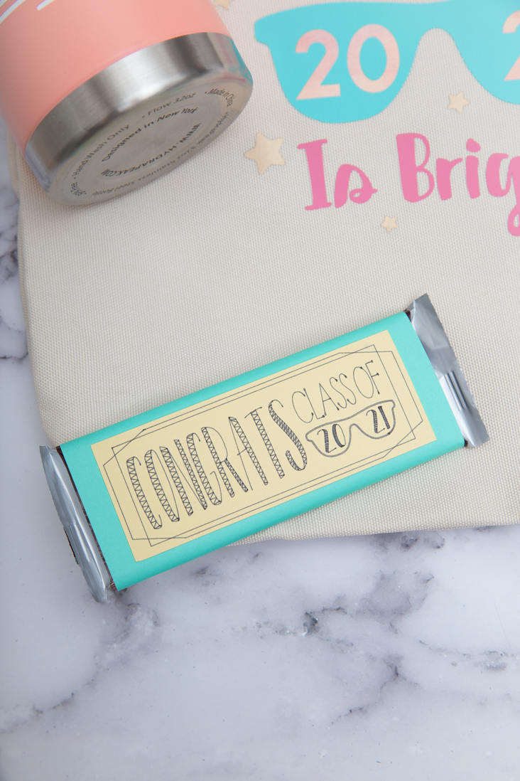 DIY Cricut Graduation Candy Bar Wrapper