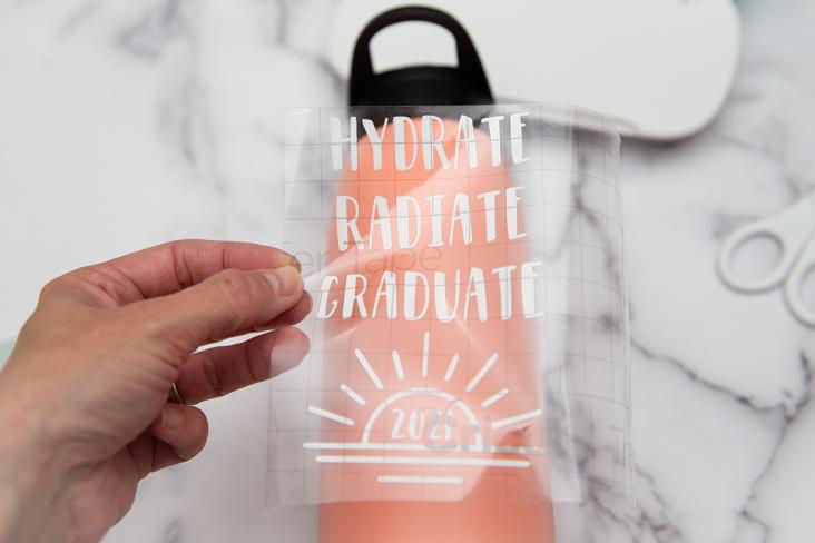 DIY Cricut Joy Graduation Water Bottle